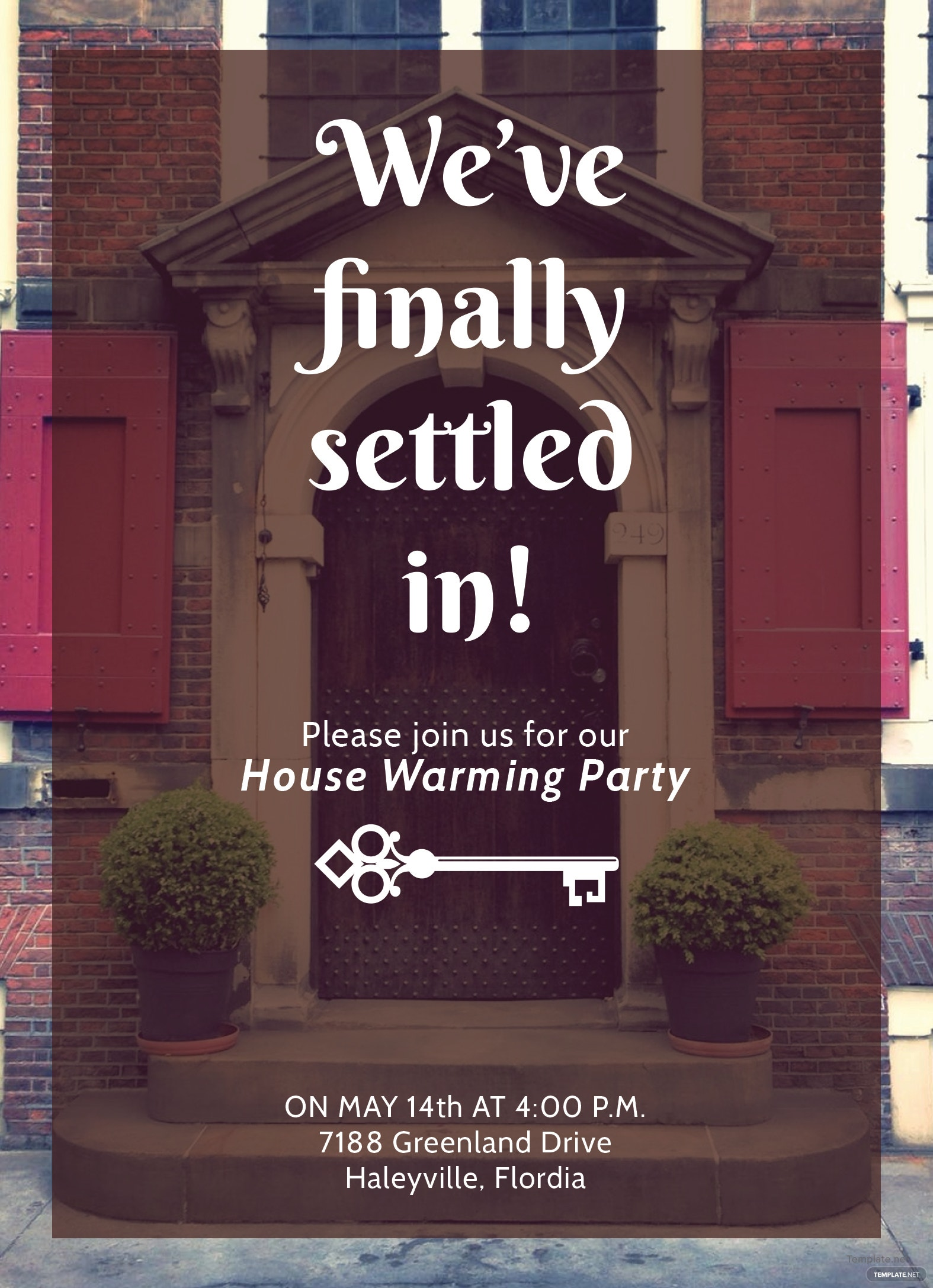 free housewarming party invitation template in adobe