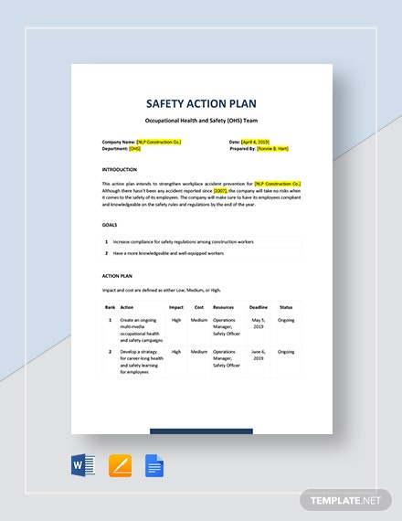 safety action plan