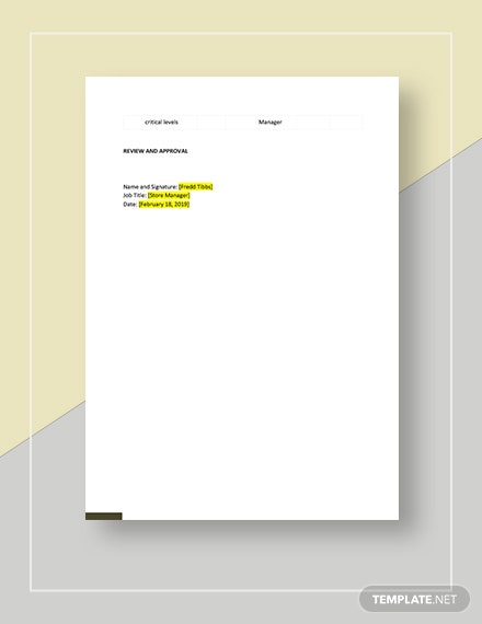 Sample Action Plan Template
