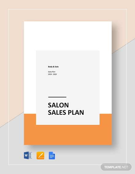 Spa/Salon Sales Plan Template