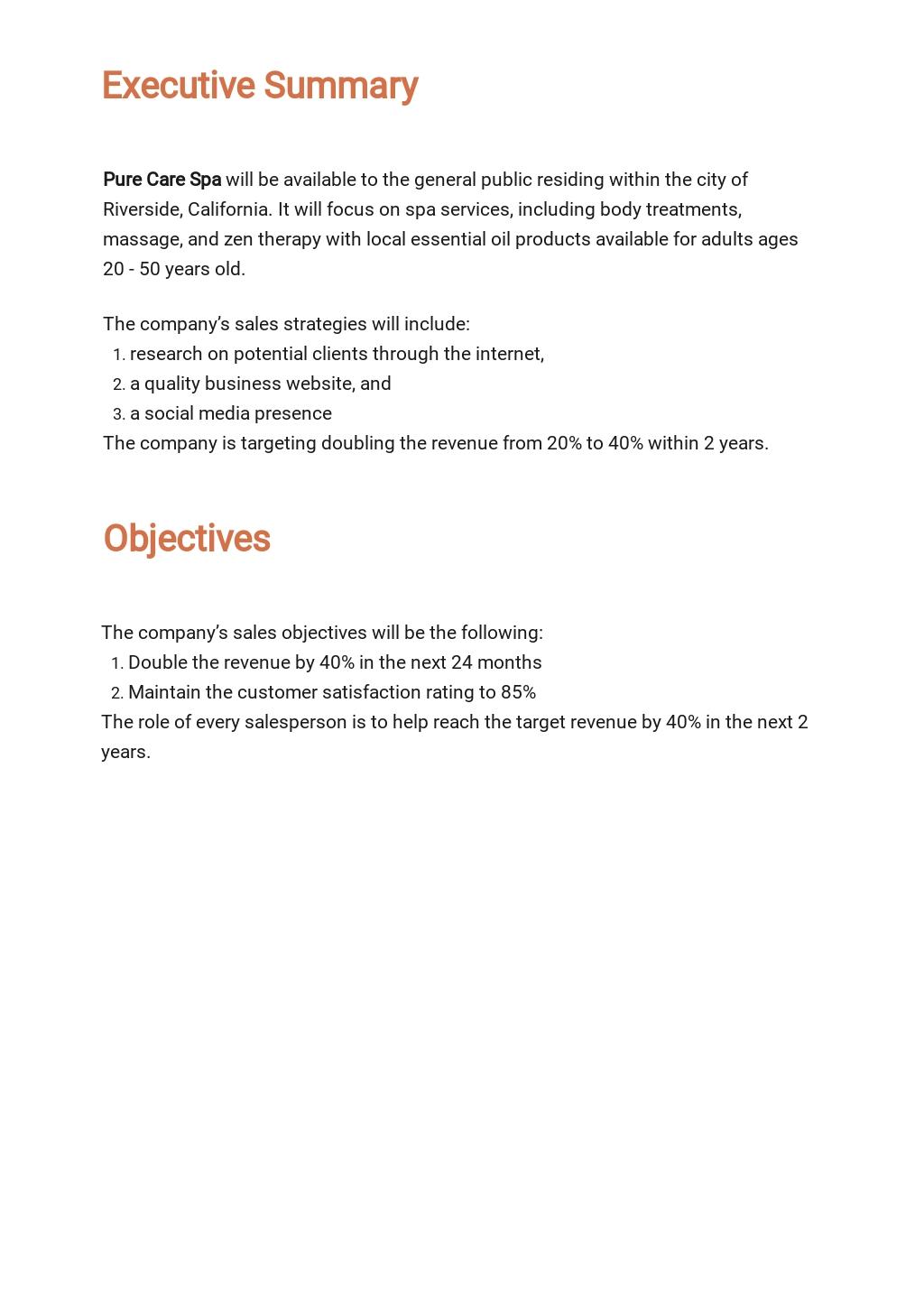 Spa/Salon Sales Plan Template 1.jpe
