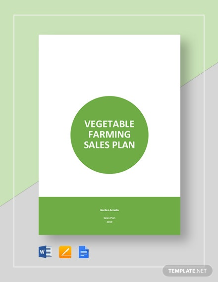 vegetable farming sales plan