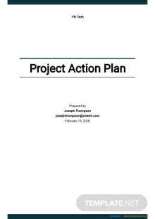Basic Project Action Plan Template