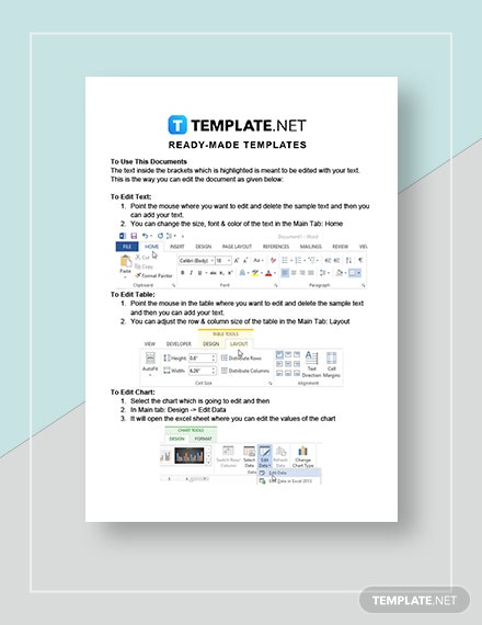 Sample Real Estate Sales Plan Instructions