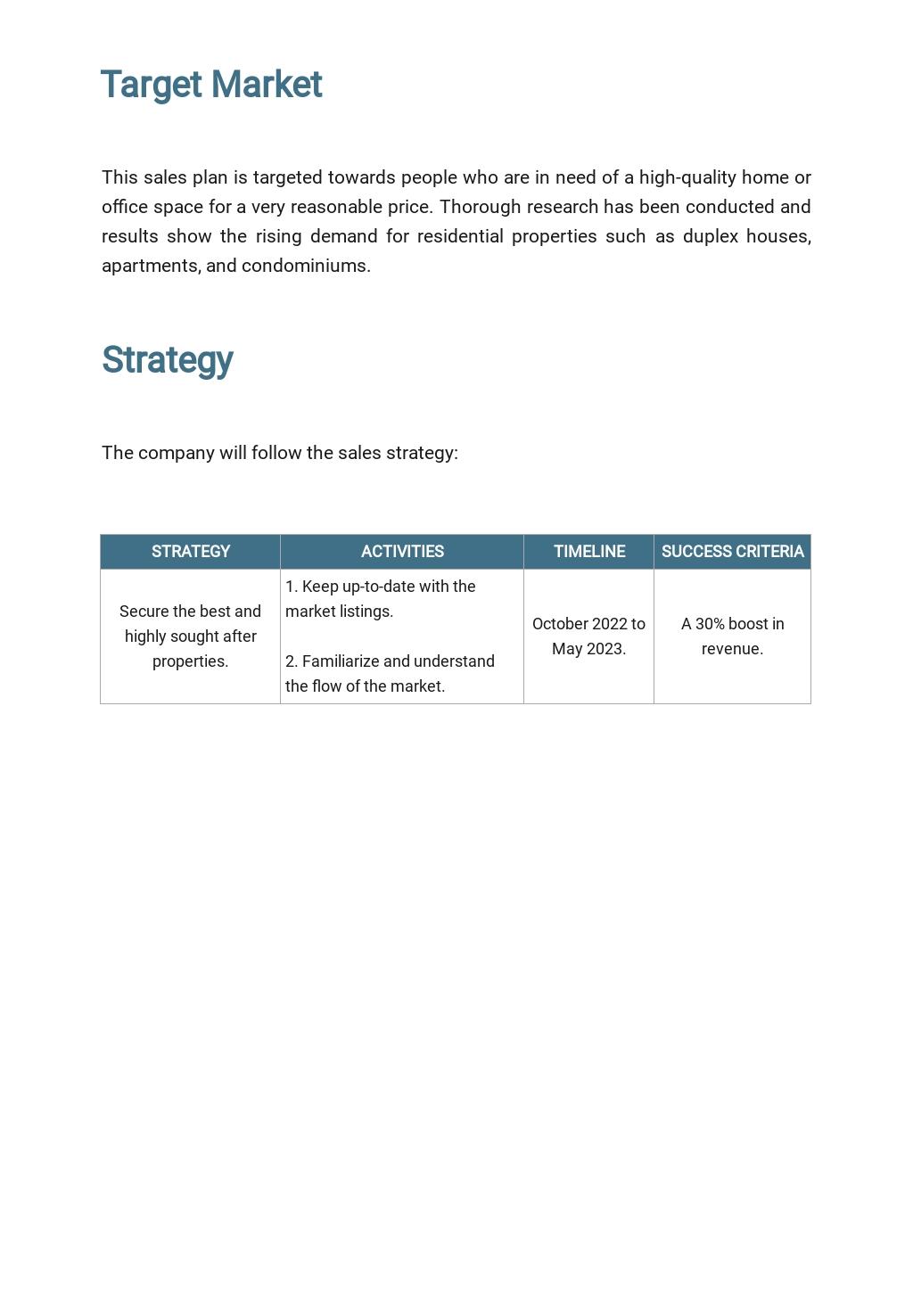 Sample Real Estate Sales Plan Template 2.jpe