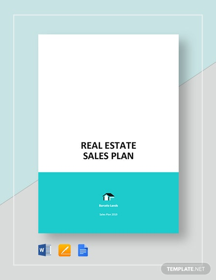 sample real estate sales plan
