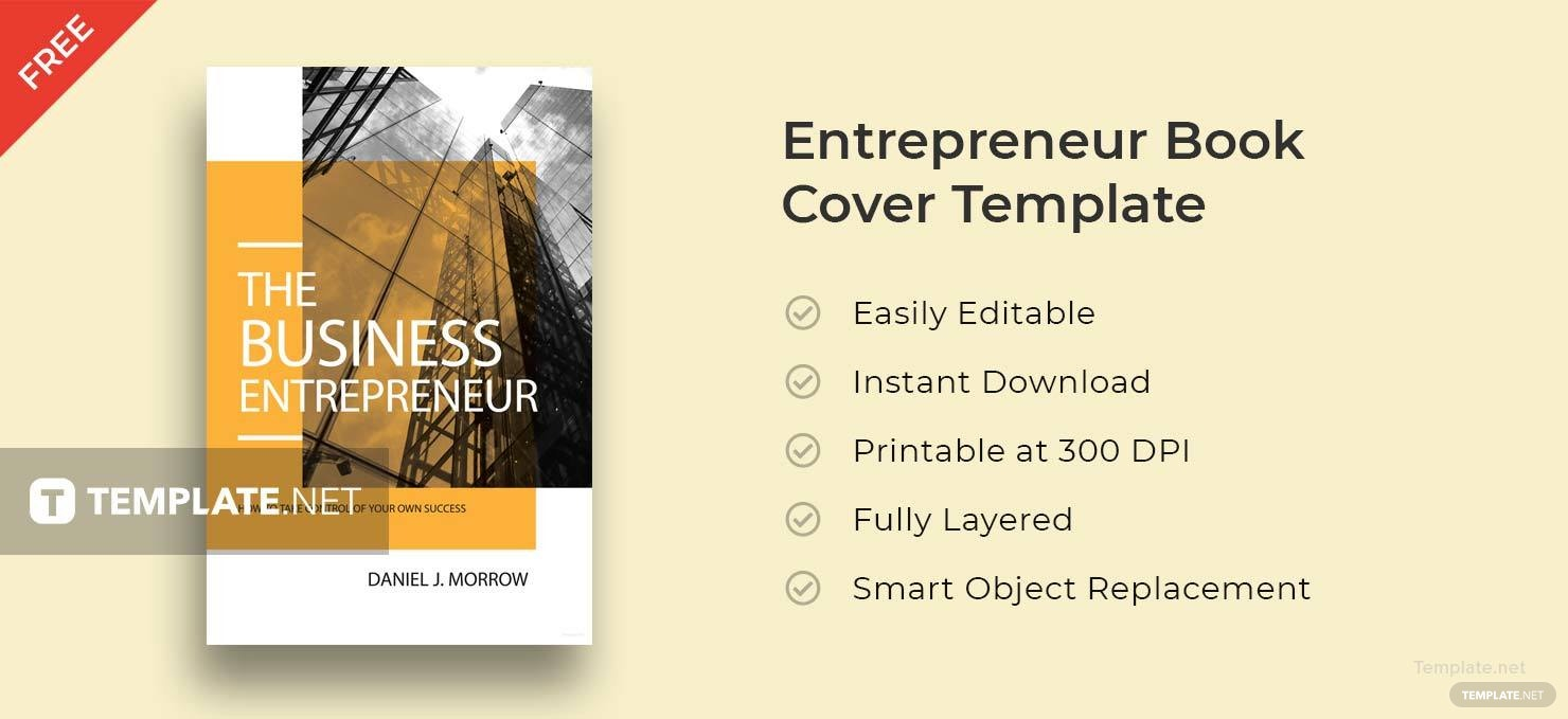 Book Cover Template Adobe Illustrator ~ Free entrepreneur book cover template in adobe photoshop