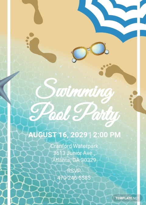 Free Swimming Pool Party Invitation Template.jpe
