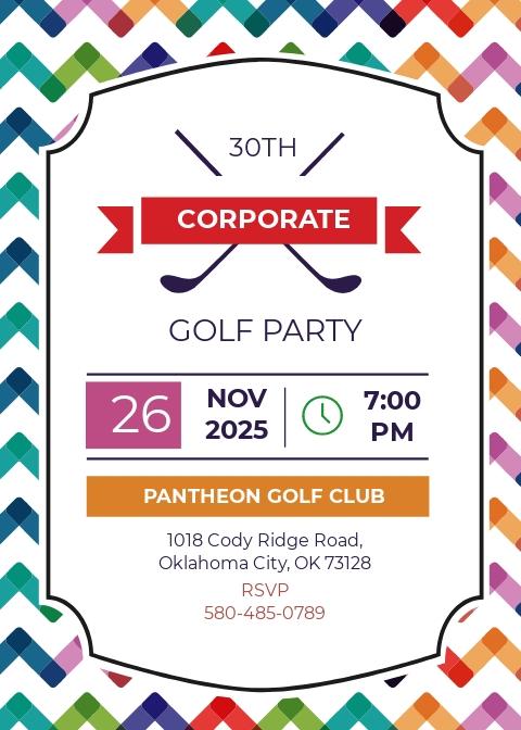 Corporate Golf Invitation Template