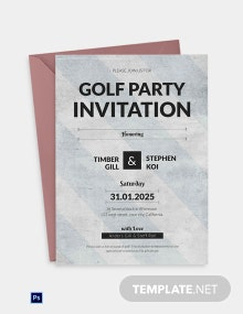 Simple Golf Party Invitation
