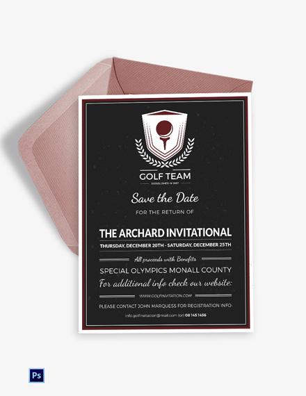 Golf Invitation Card Template