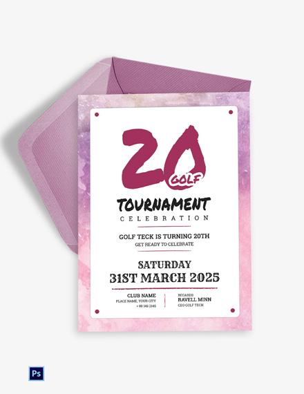 Golf Tournament Celebration Invitation
