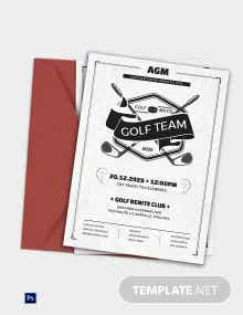Golf Club Team Invitation Template