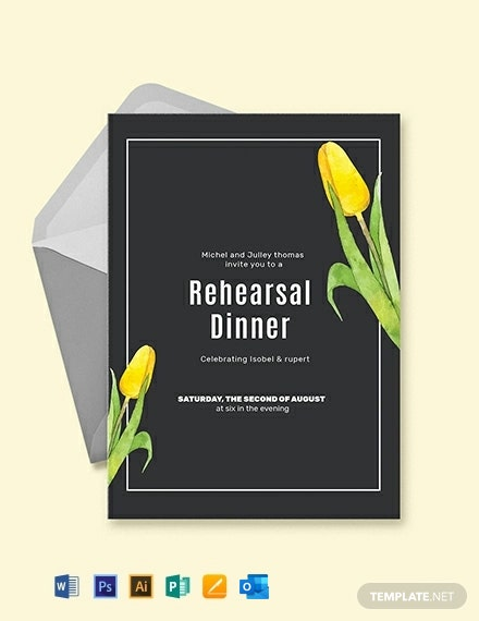 Free Rehearsal Party Invitation Template
