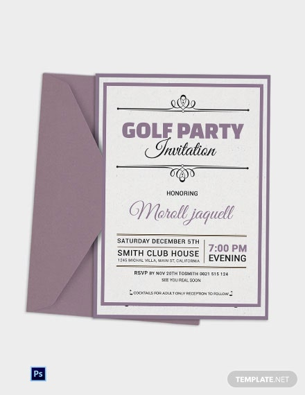 Golf Reception Party Invitation
