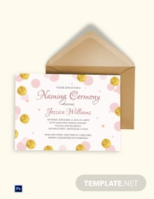 Naming Ceremony Invitation Template