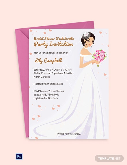 Bridal Shower Bachelorette Party Invitation