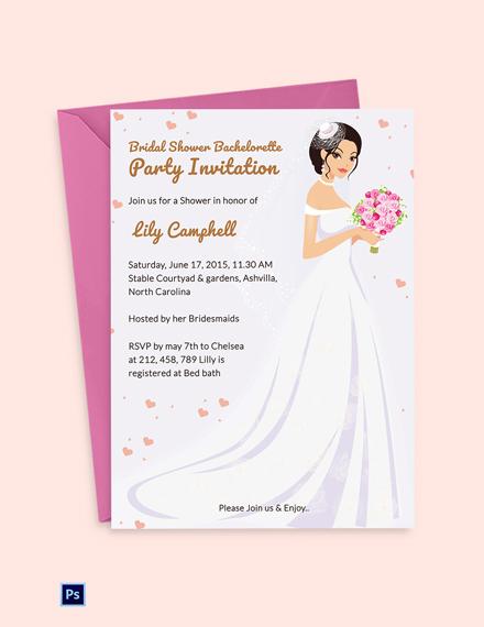 Bridal Shower Bachelorette Party Invitation
