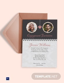 Elegant Engagement invitation Card Template