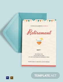 Elegant Retirement Party Invitation Template
