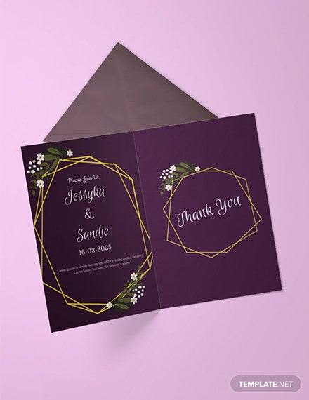 Free Wedding Thank You Invitation Template