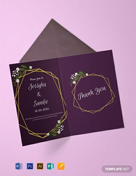 free wedding thank you invitation template 440x570 1