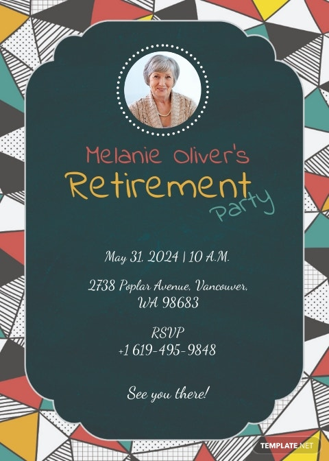 Printable Retirement Party Invitation Template [Free JPG] - Illustrator, PSD