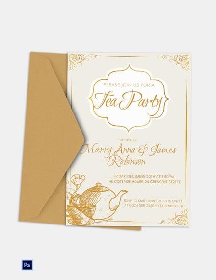 Simple Tea Party Invitation