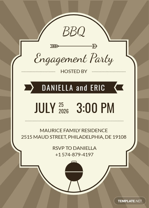 Engagement BBQ Party Invitation Template.jpe