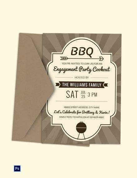 Engagement BBQ Party Invitation