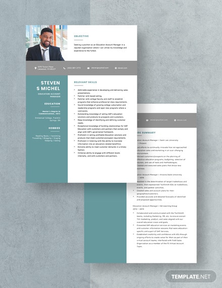 Education Account Manager Resume Download