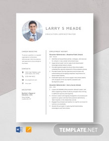 Education Administrator Resume Template