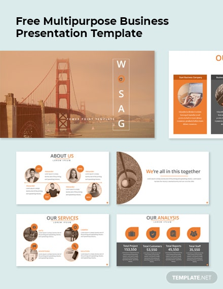 Free Multipurpose Business Presentation Template