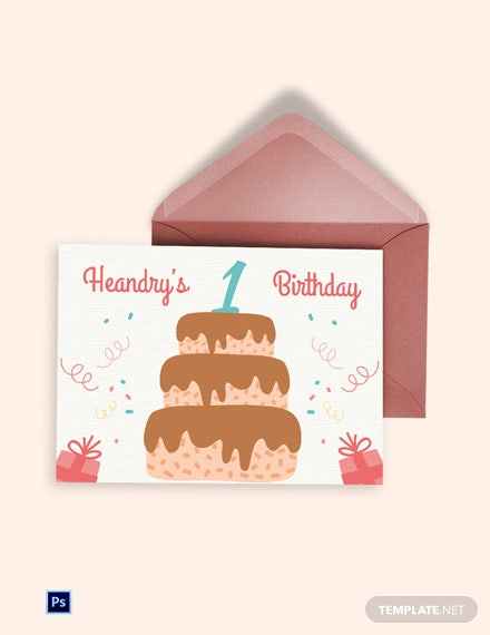 Printable Birthday Greeting Card Template