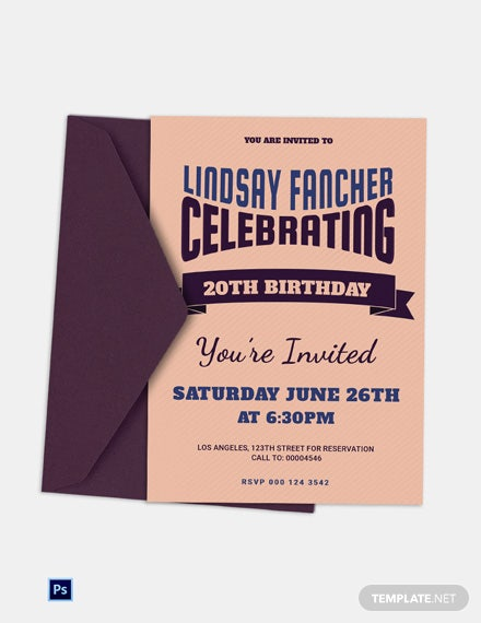 Retro Style Birthday Invitation Template