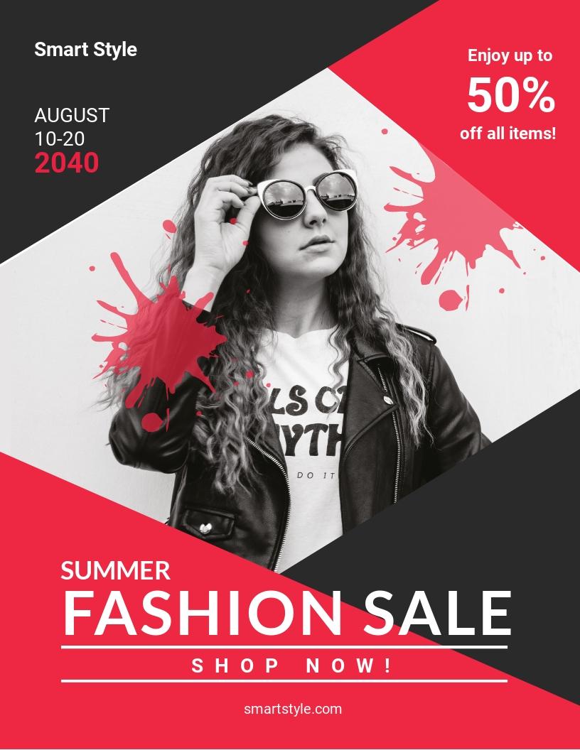 Summer Fashion Flyer Template.jpe