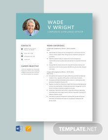 Corporate Compliance Officer Resume Template