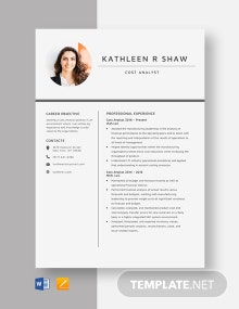 Cost Analyst Resume Template