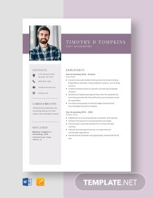 Cost Accounting Resume Template