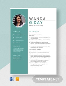 Credit Investigator Resume Template