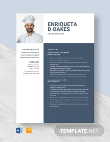 Cruise Ship Chef Resume Template