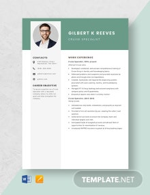 Cruise Specialist Resume Template
