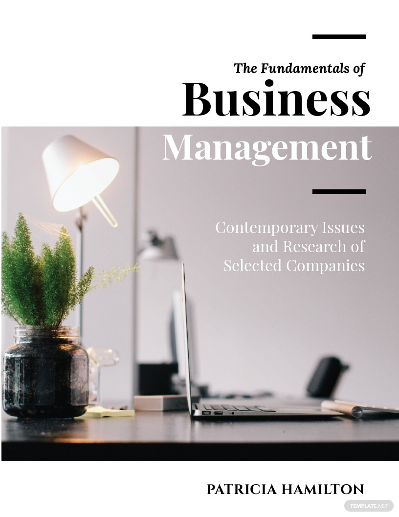 Sample Business Management Book Cover Template