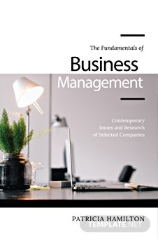 Free Business Management Book Cover Template