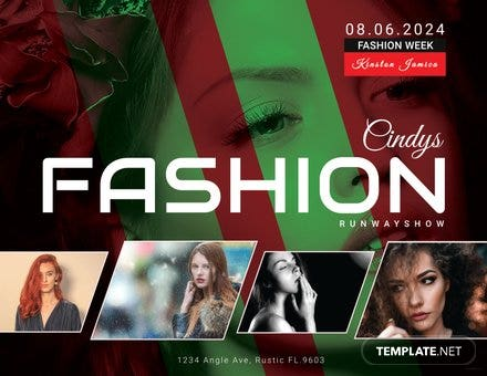 Free Modern Fashion Show Flyer Template Free Templates