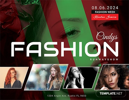 Free Modern Fashion Show Flyer Template