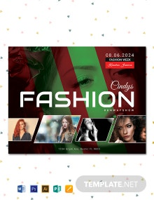 Free Modern Fashion Show Flyer Template