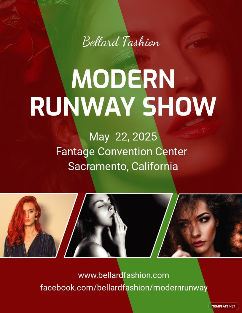 Modern Fashion Show Flyer Template