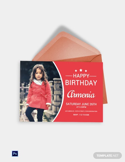 Modern Birthday Invitation Card