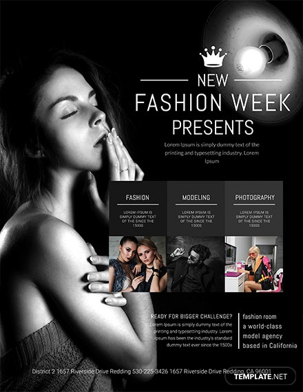 Free Fashion Week Flyer Template